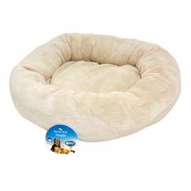 Donut bed snugly Beige 50 cm FOR AND DOG